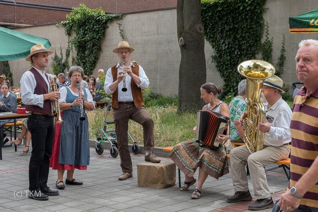 Die fränkischen Musikanten waren unterwegs.